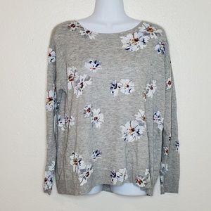 Joie Eloisa B Floral Print Knit Sweater